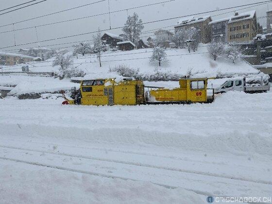 Schneefall Januar 2021