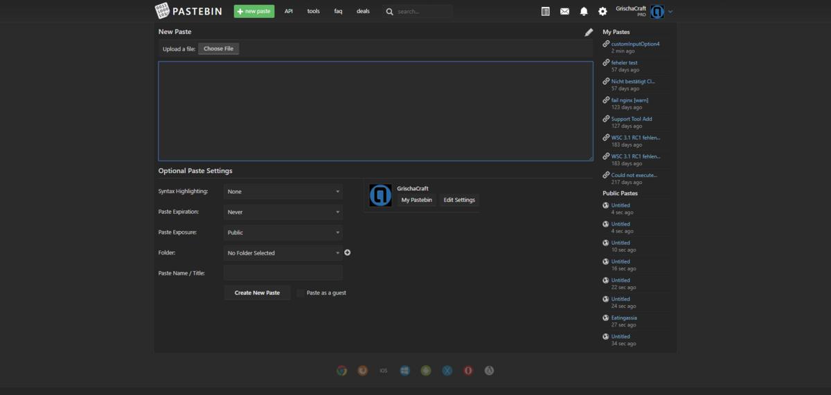 Pastebin Night Mode & 60% Rabatt auf Pastebin Pro